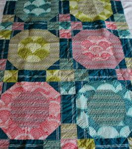 I love machine quilting voile fabric.