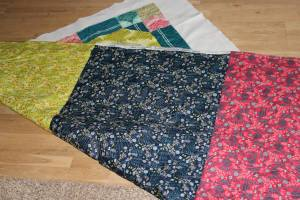 Quilting with voile fabrics on the front and back result in a super-soft quilt