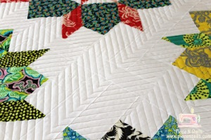 modern quilting on a swoon quilt