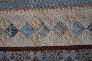 modern quilted triangles