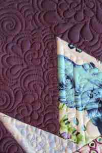 maching quilting feathers