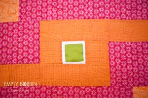 a modern quilt pattern with longarm quilting