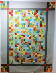 quilt made with modern fabric