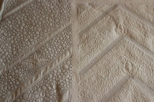 back of modern quilt quilting