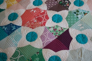 Lizzy house meadow quilt pattern machine quilting