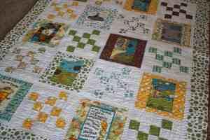 dr seuss lorax fabric quilt