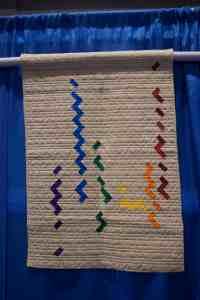 modern quilt at quilt show