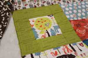 machine quilting on fat quarterly quilt