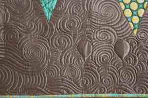 quilting on silk fabric