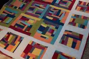 modern quilt made with kona modern quilts fabric