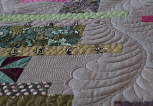 machine quilting feathers