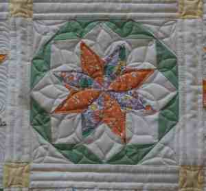Dear Jane quilt block quilting