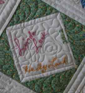 dear jane signature quilt block