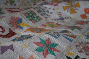 dear jane quilt close up!