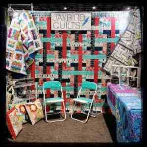 Jaybird quilts quilt market booth